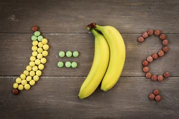 Bananen, Schokolinsen, Smarties