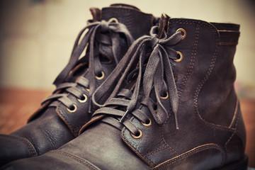 Rough heavy leather men's shoes