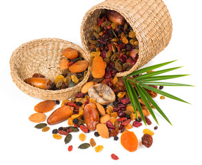 Dried fruits in a basket