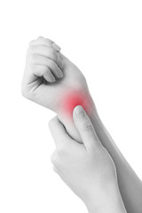 Pain in the joints of the hands.