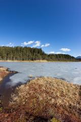 Frozen Lake Leech Winter Landscape