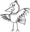 Doodle Sketch Bird Vector Illustration Art