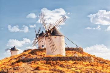 Windmills of Consuegra in La Mancha region of central Spain