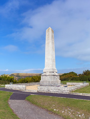 Portland Cenotaph war memorial Dorset, England uk