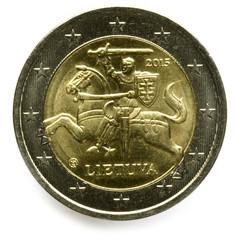 Lietuvos eurų monetos Lithuania euro Lietuvos herbas Vytis