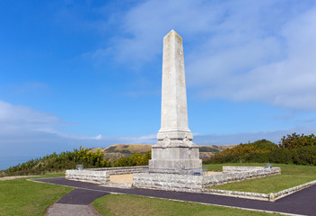 Cenotaph war memorial Portland Dorset England uk