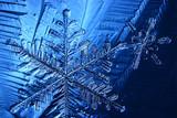 snowflake crystal blue background