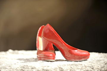 Red Shoes in Sunlight