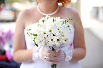 Bride with Camomiles