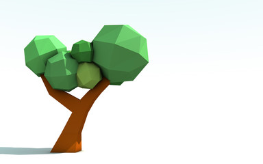 3D Origami Paper Tree