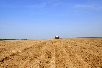 agriculture, earth, field, rain, season, spring, work