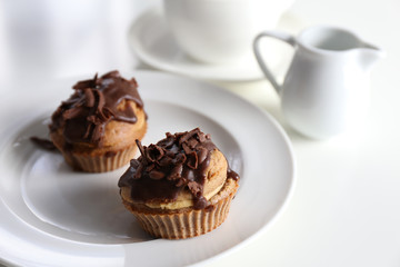 Chocolate-Coffee Muffin / Sweet breakfast