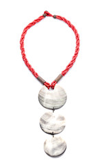 Shell Necklace on White background