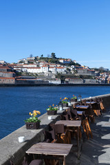 Porto city at Douro river, Portugal.