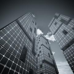 Three skyscrapers
