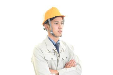 仕事に励む労働者