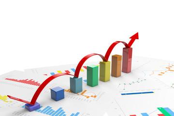 3d color positive bar Graphs