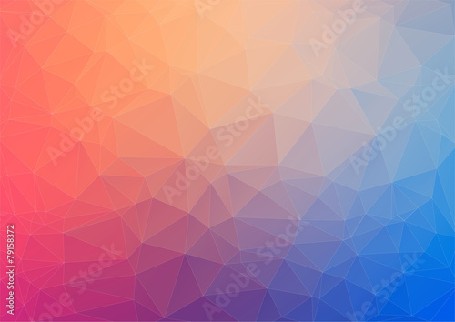 Fotobehang Geometrische Achtergrond Colorful geometric background with triangles