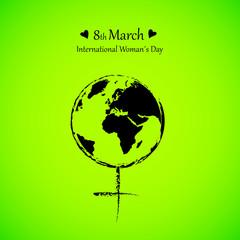 international womans day symbol grün