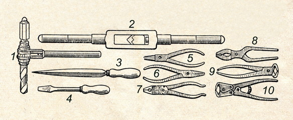 Locksmith's and fitter's tools