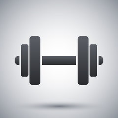 Vector dumbbell icon