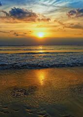 Sea horizon sunset, Bali, Indonesia
