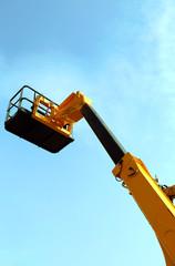 high platform for industrial work in elevation