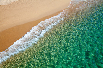 Clear turquoise water of sardinian sea