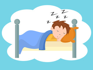 Child sleeping, vector illustration