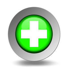 Medical Symbol. Emergency Icons. Green Set