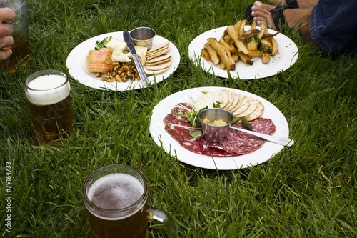 Brunch in the grass in San Francisco - 79164733