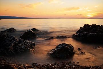 Sunset on adriatic sea