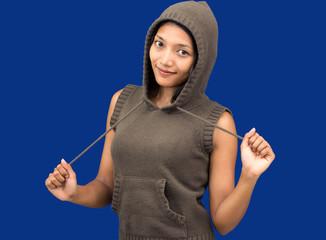woman with sweatshirt