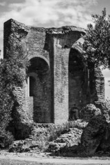 Italy, Calabria, Squillace, medieval church ruins - FILM SCAN