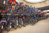 parked bicycles at central station