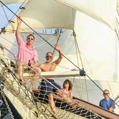 Ahoi beim Segeln