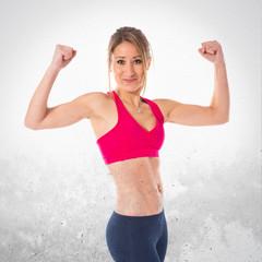Strong sport woman
