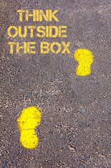 Think Outside The Box message