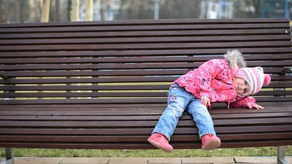 child on a bench