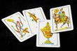 Spanish cards in black background - 79169931