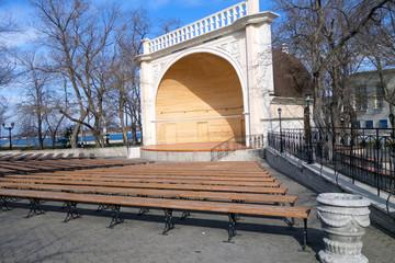Wood stage