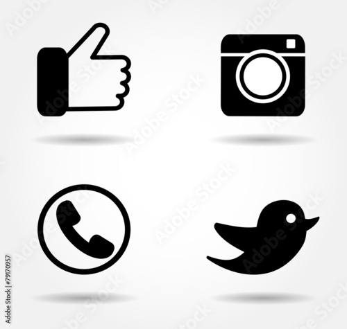 black icon set - 79170957