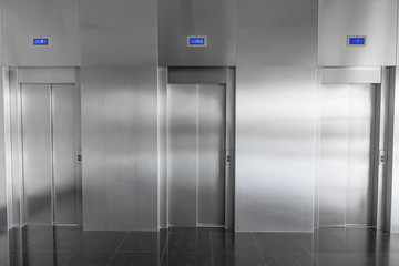 elevators in the hall