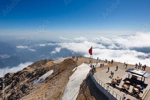 Leinwanddruck Bild The top of Tahtali mountain