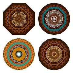 Set of doodles ethnic design elements