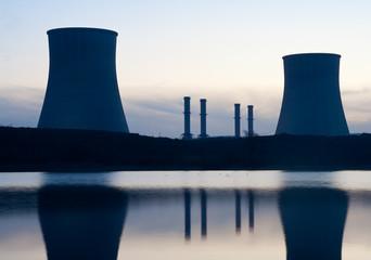 Power plant on the coast