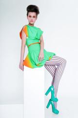 Ultramodern Woman. Fashion & Glamor.