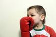 Kid in boxing gloves