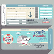 Cruises to Paradise boarding pass design - 79175980