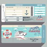 Cruises to Paradise boarding pass design - 79175980